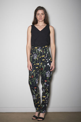 BOTANIC PRINT PANTS black