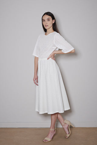 CAPRI DRESS white