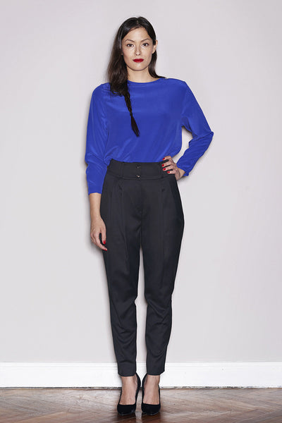 LADIES PLEAT PANTS black