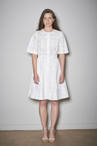 LISBOA DRESS white