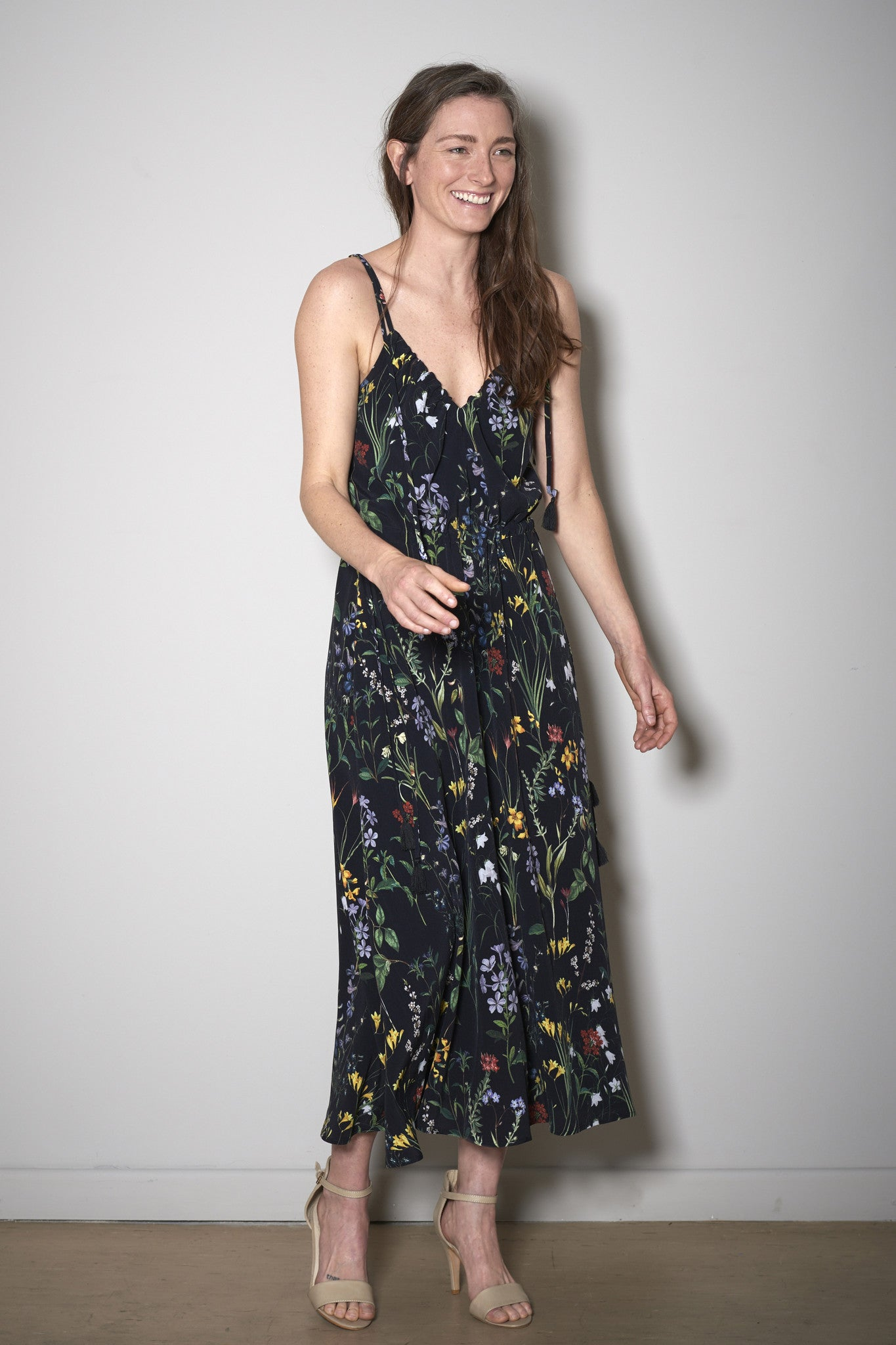 SIENNA SUMMER DRESS black flowers