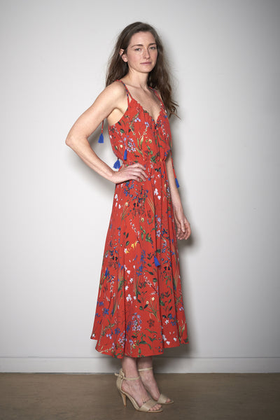 SIENNA SUMMER DRESS red flowers