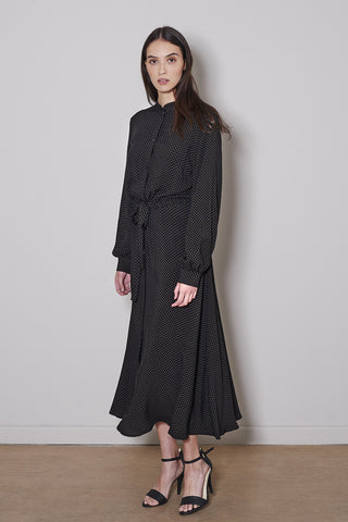 SWAN DRESS black/kakhi