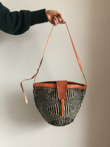 SISAL PURSE black & white