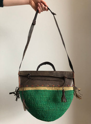 SISAL PURSE smaragd green