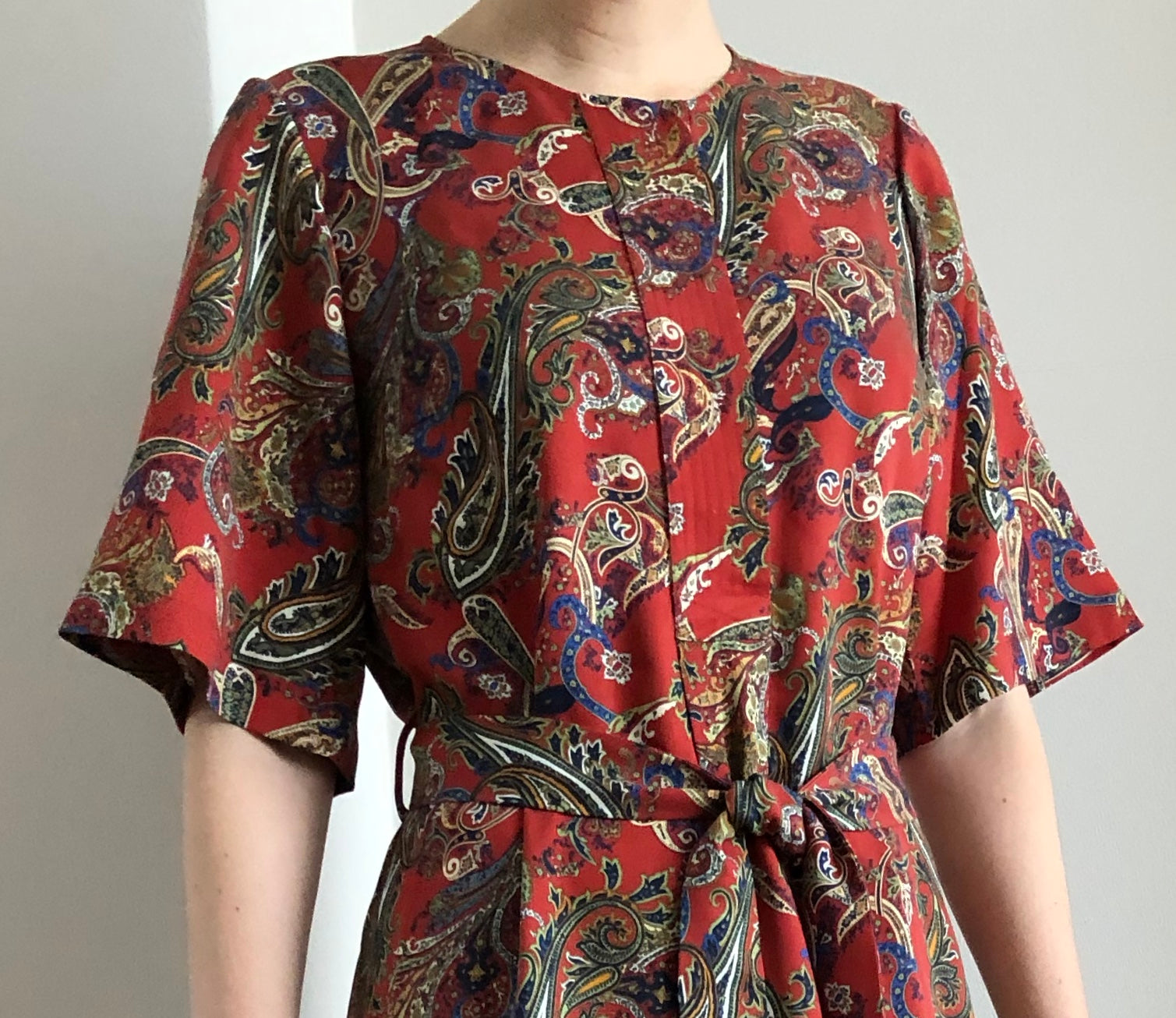 AMALFI DRESS brick paisley