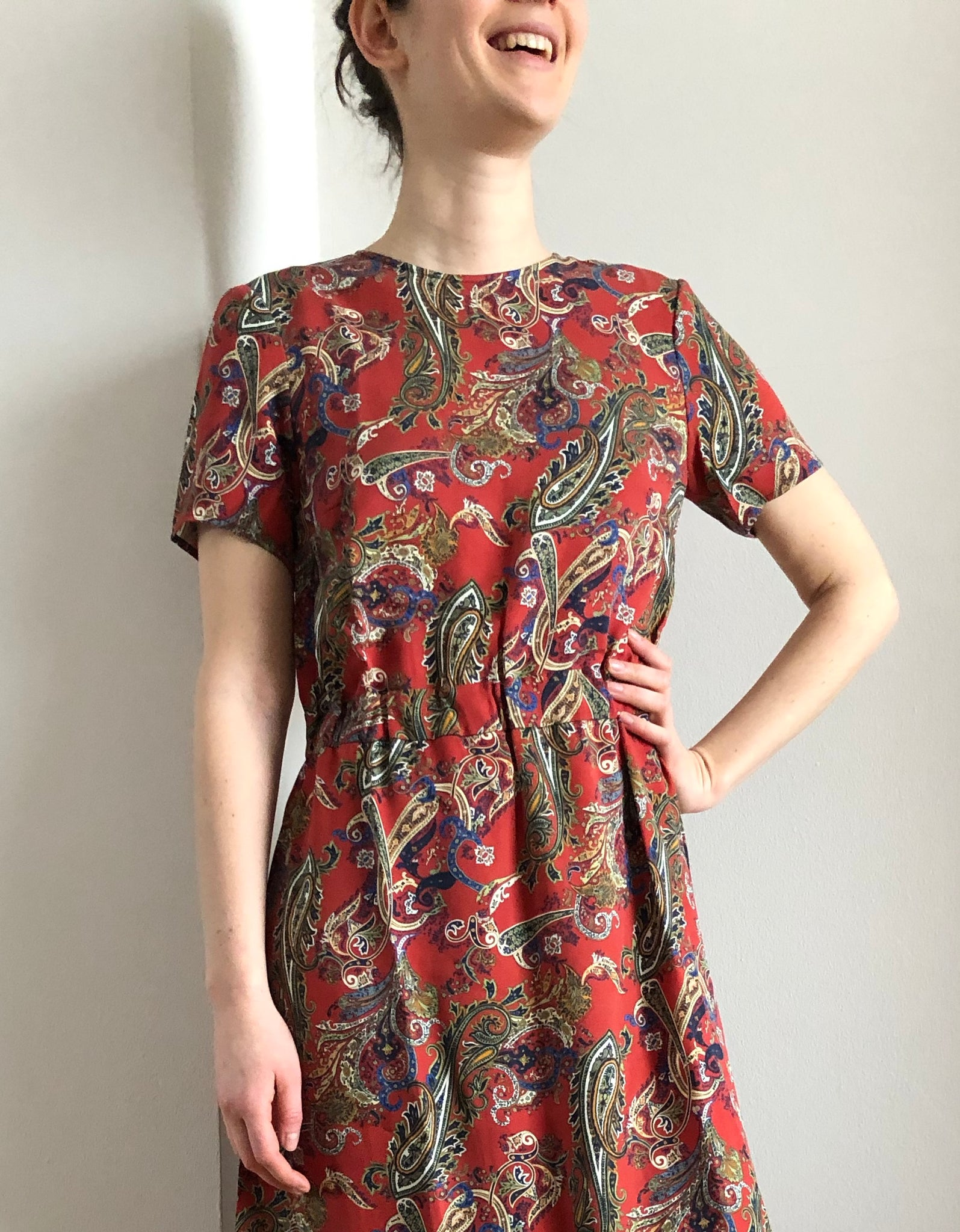 PAXTONIA MAXI DRESS brick paisley