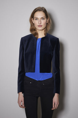 TWO EYE JACKET navy velvet