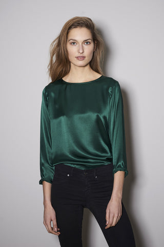 BASIC LONGSLEEVE dark green