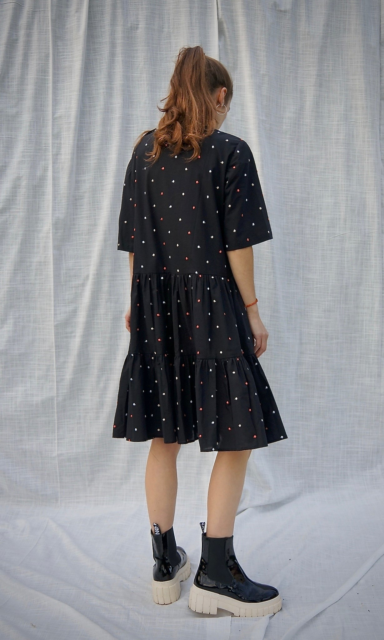 CAPRI BLOSSOM DRESS black
