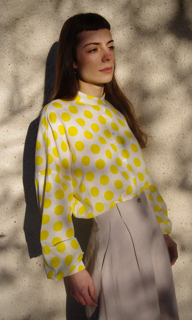 DAPHNE BLOUSE yellow dots