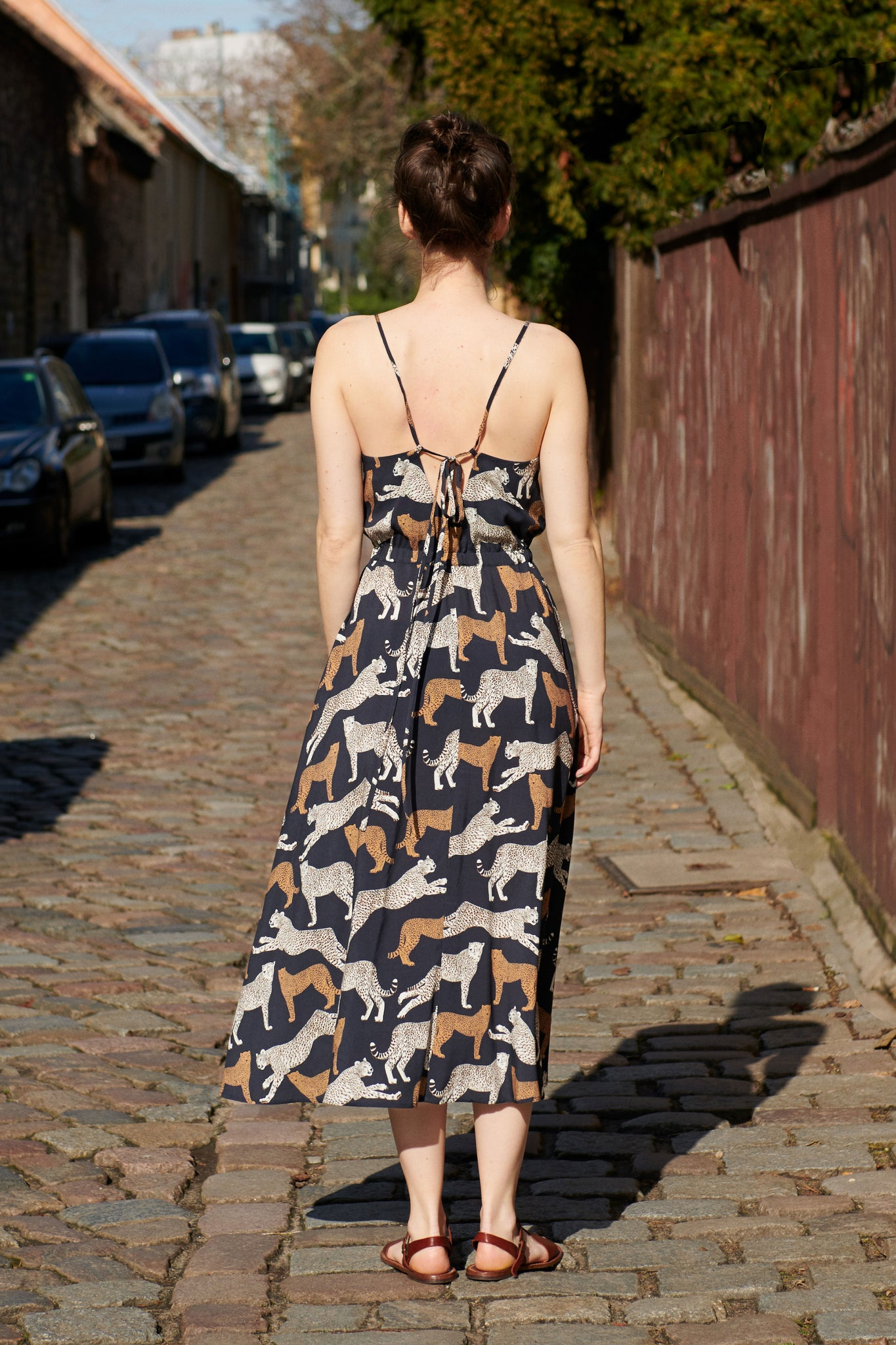FERÁ SUMMER DRESS navy cheetah