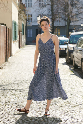 FERÁ SUMMER DRESS navy sprinkle
