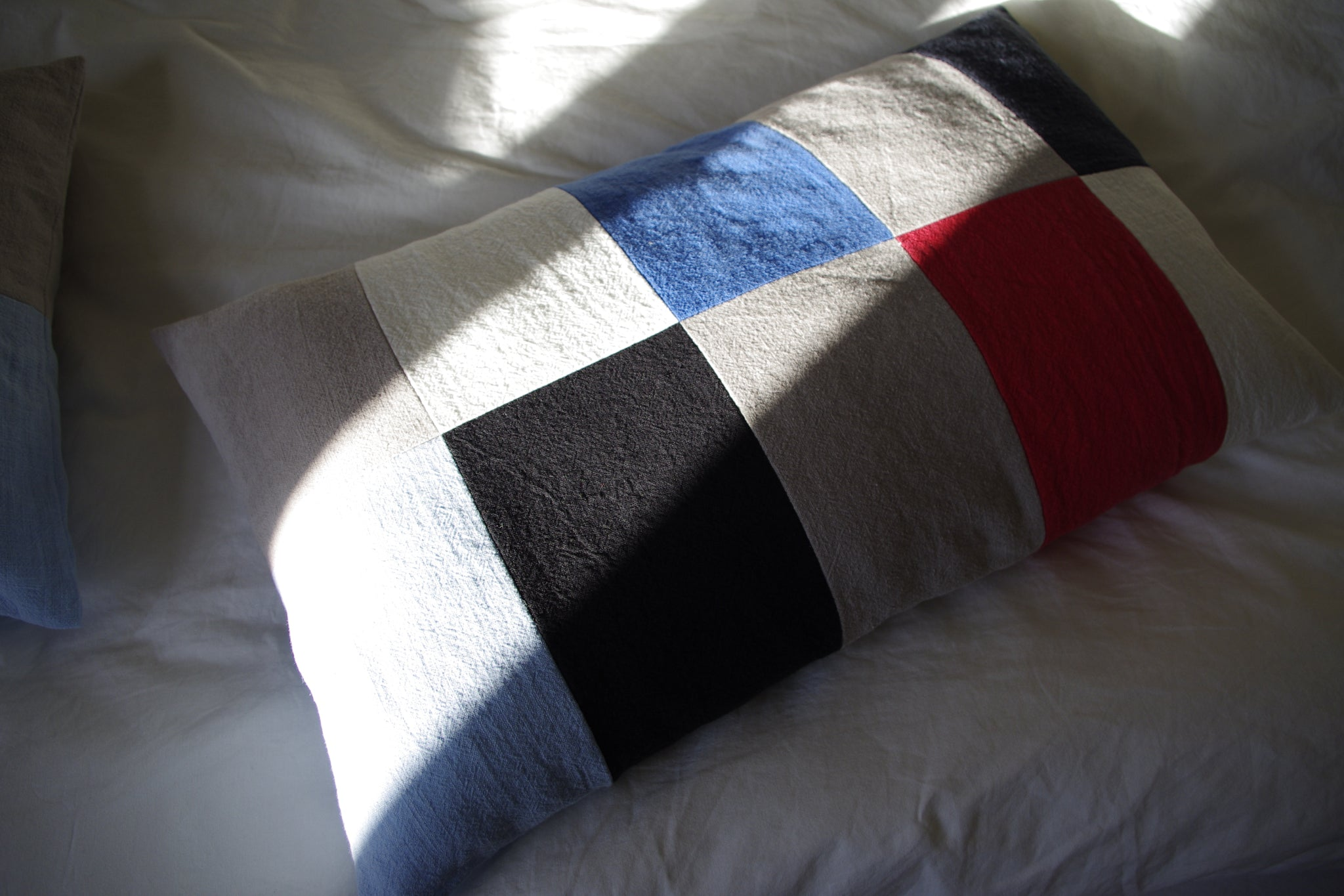 CUSHION COVER blue red no.3