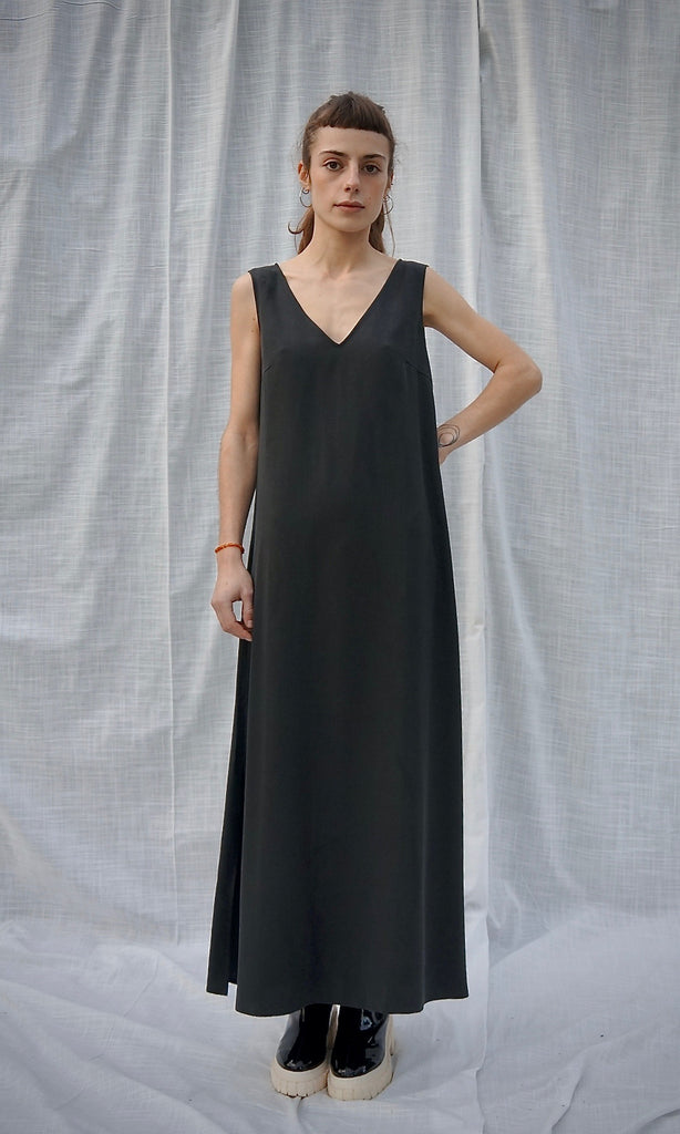 V-SUMMER DRESS black