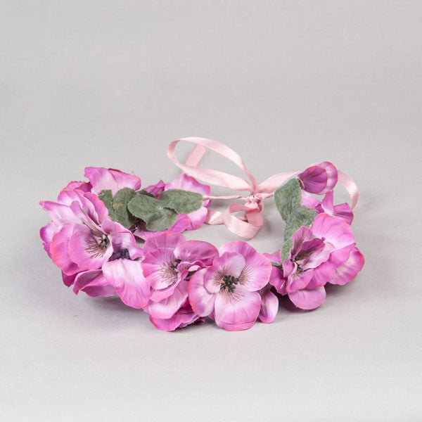 Pink Lady Flower Crown