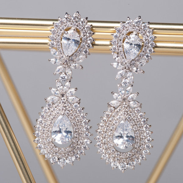Chandelier drop clip on earrings - Shop No.2