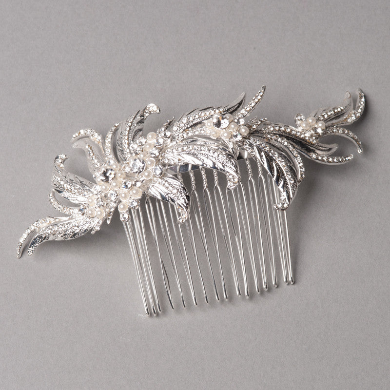 Feather Hair Comb - Shop No.2 Accessories