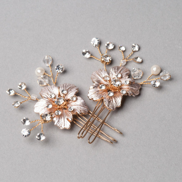 Gold Cherry Blossom Hairpins - Shop No.2