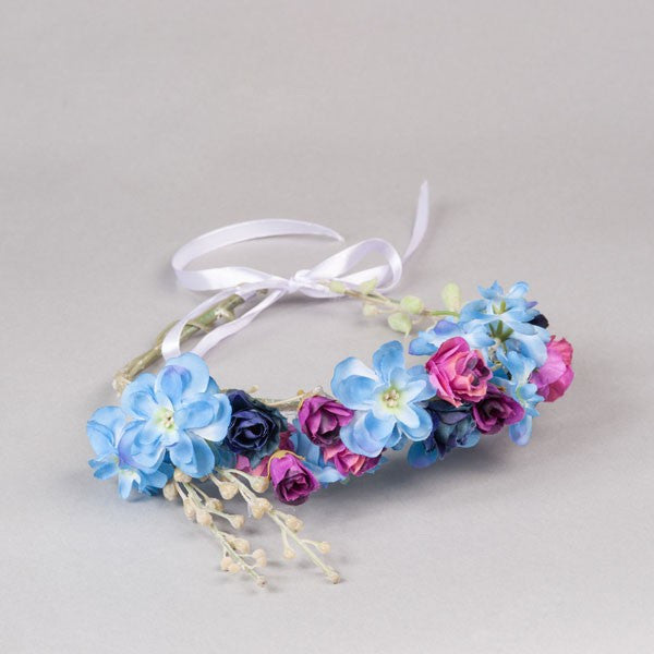 Blue Jasmine Flower Crown