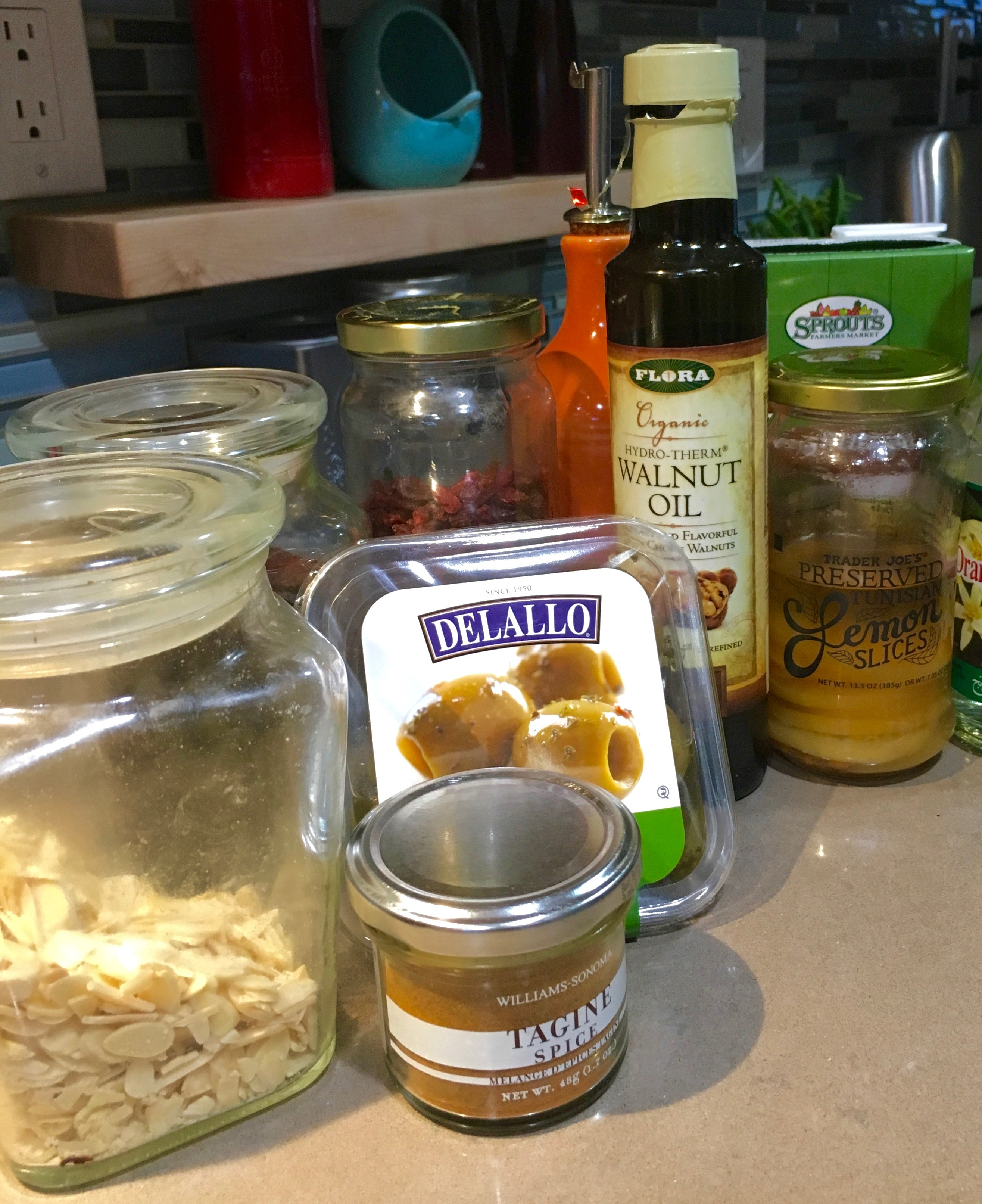 organic walnut oil with cooking supplies