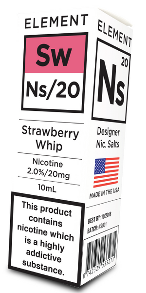Ns20 nic-salts by Element E-Liquid