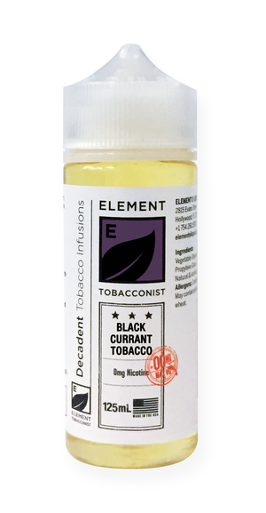 Element Tobacconist Black Currant Tobacco 125mL 2-pack