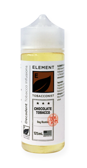 Element Tobacconist Chocolate Tobacco 125mL 2-pack