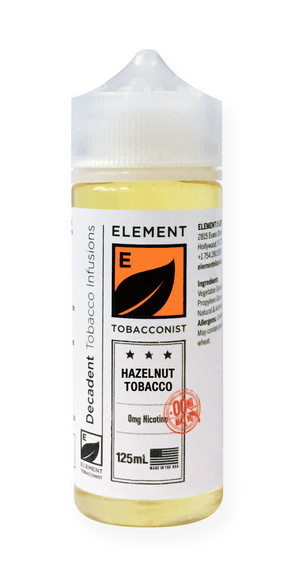 Element Tobacconist Hazelnut Tobacco 125mL