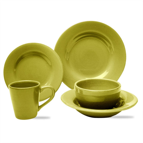 Apple Green Sonoma 20-Piece (4 x 5-Piece) Place Setting for 4 - SAVE 20%