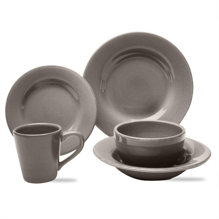 Warm Gray Sonoma 20-Piece (4 x 5-Piece) Place Setting for 4 - SAVE 20%