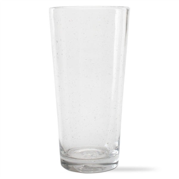 Clear Bubble Glass Pub Glasses, Set of 6
