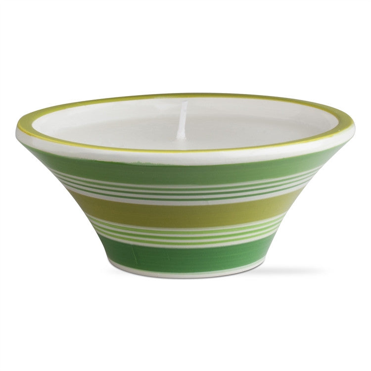 Green Citro Candle Pot