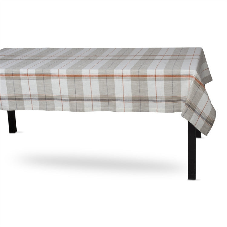 Sienna Plaid Cotton 60x84 Tablecloth