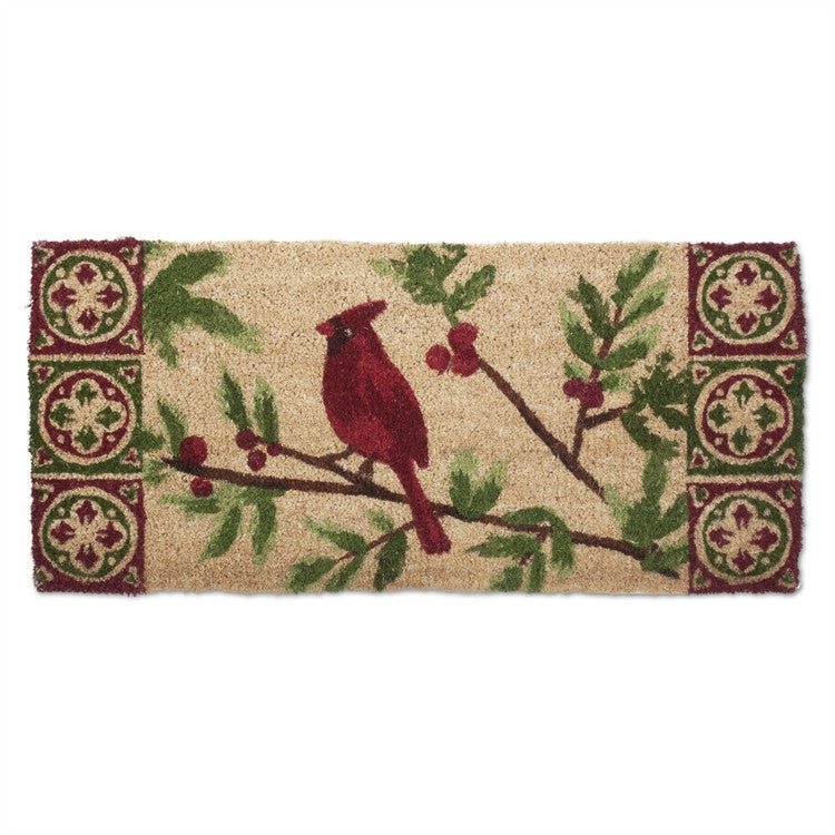 Cardinal Christmas Estate Coir Mat