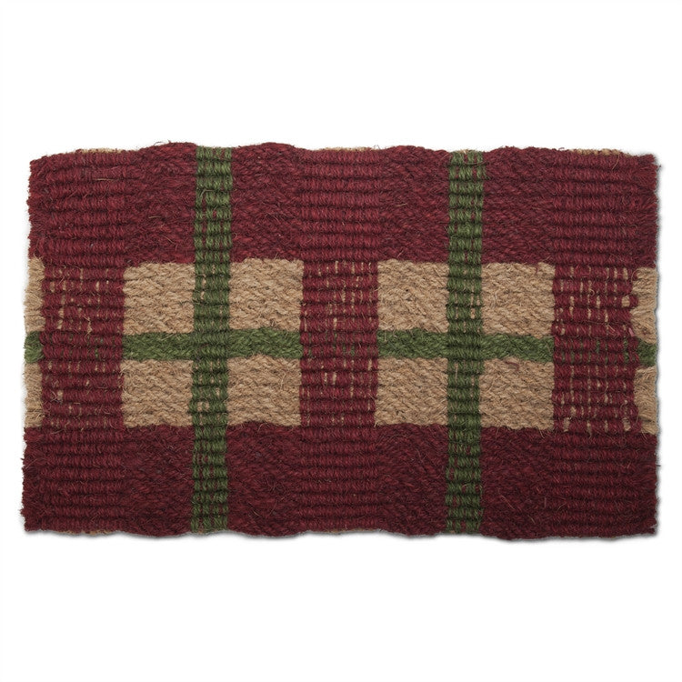 Vintage Plaid Coir Mat