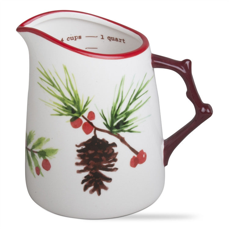 Greenery Christmas Measuring Pitcher
