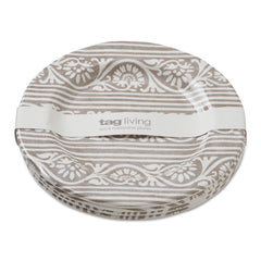 Tan Artisan Melamine Salad Plates, Set of 4