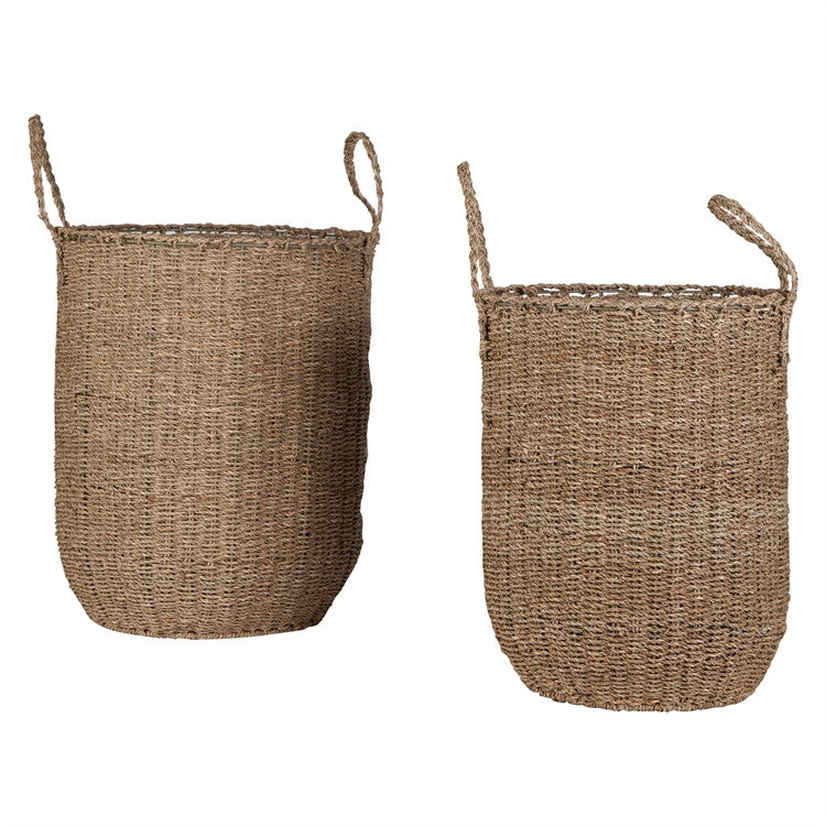 Seagrass Floor Baskets, Set of 2