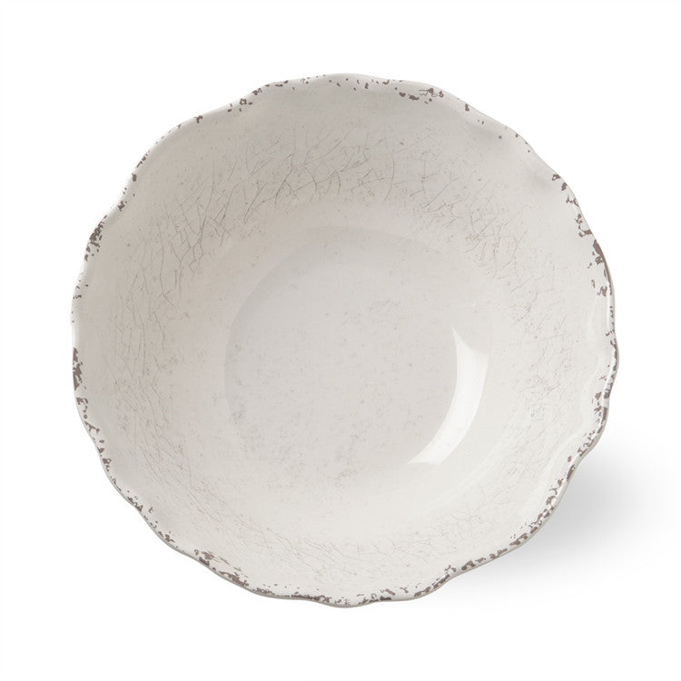 Ivory Melamine Serving Bowl