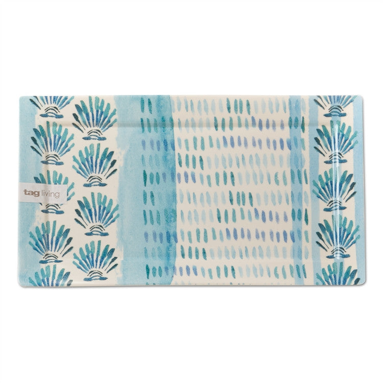 Oceanside Melamine Serving Tray