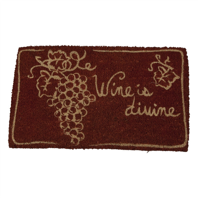 Wine is Divine Coir Mat