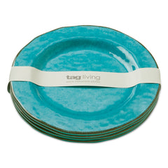 Blue Veranda Melamine Salad Plates, Set of 4