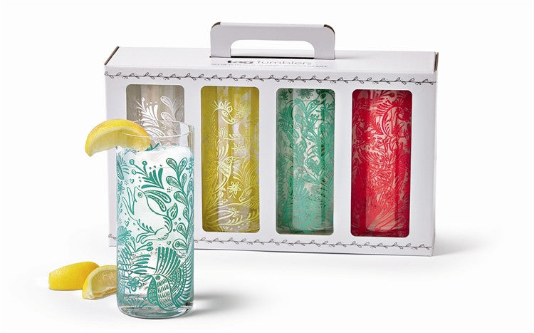 Tropical Tumblers, Set of 4