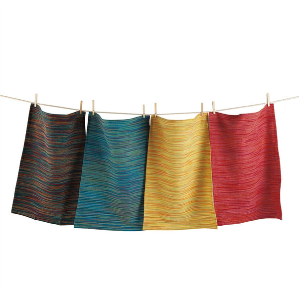 Global Space Dye Dishtowels, Set of 4
