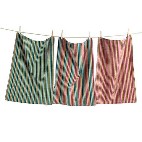 Diamond Stripe Dishtowels, Set of 3