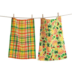 Pineapple Dishtowels, Set of 2