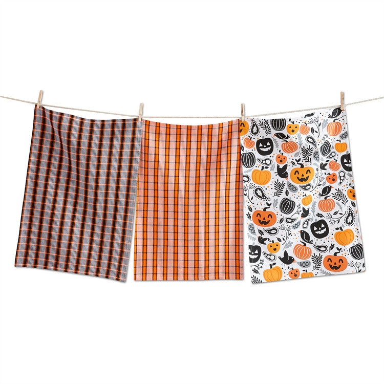 Halloween Toss Dishtowels, Set of 3
