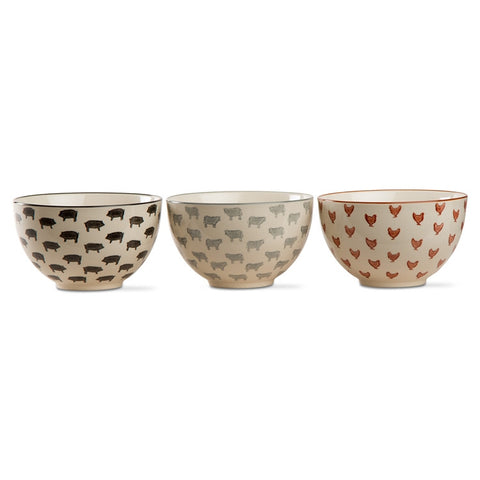 Farm Fresh Bowls, Set of 3