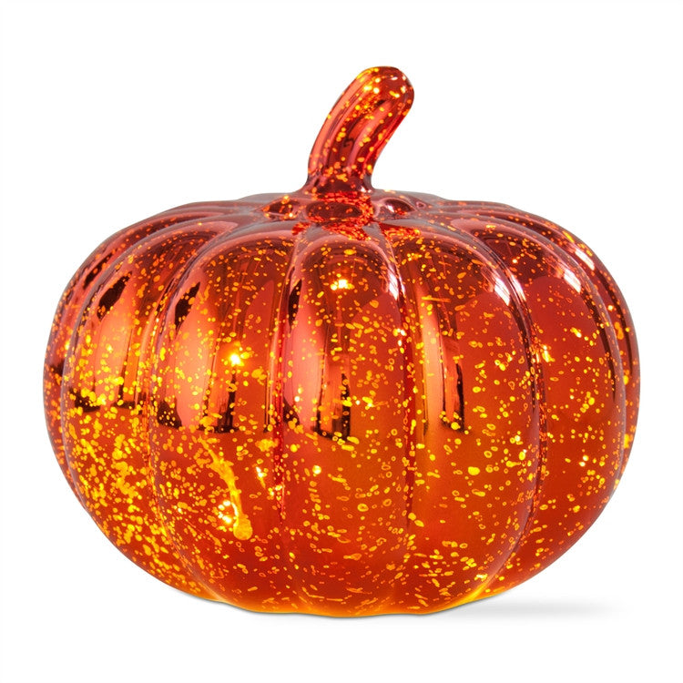 LED Mercury Glass Pumpkin, Medium